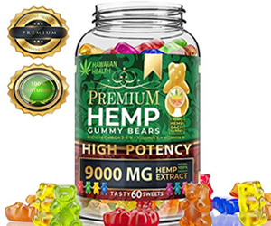 Hemp Gummies Premium 9000MG High Potency