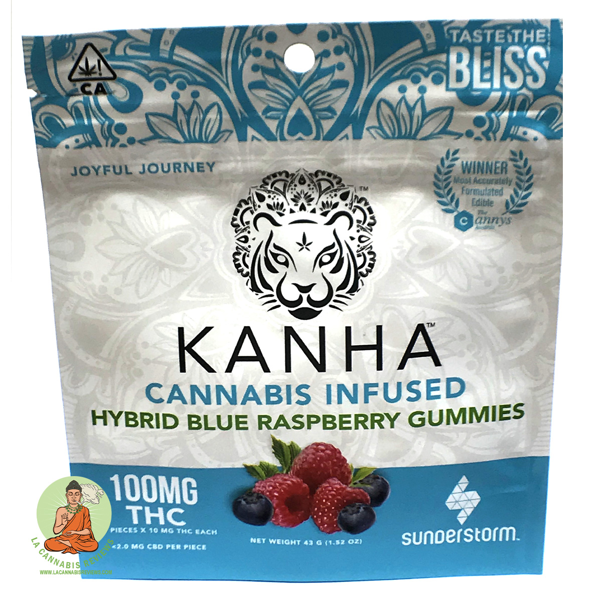 California Cannabis Melrose: Blue Raspberry Gummies (Hybrid) - Kanha