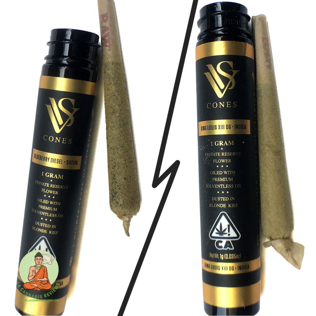 Light Club -- King Louis XIII OG (Indica) vs. Blueberry Diesel (Sativa) - VVS Cones